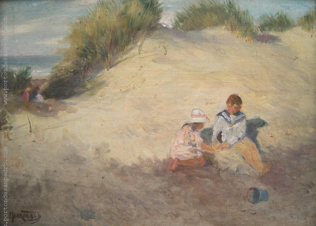 Children by the beach