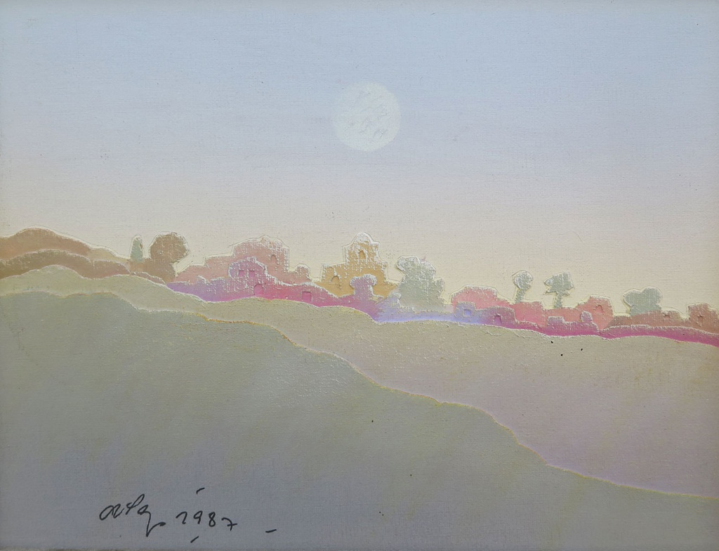 Landscape with moon
