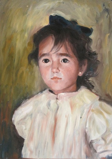 [9795] Child with white blouse