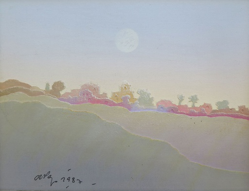 [8078] Landscape with moon